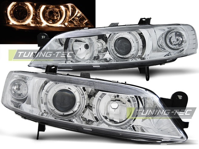 faruri angel eyes opel vectra b chrome