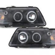 Faruri Audi A3 8L Angel Eyes Lupa Fundal Negru