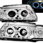 Faruri Audi A3 8L Angel Eyes si Lupa Fundal Crom