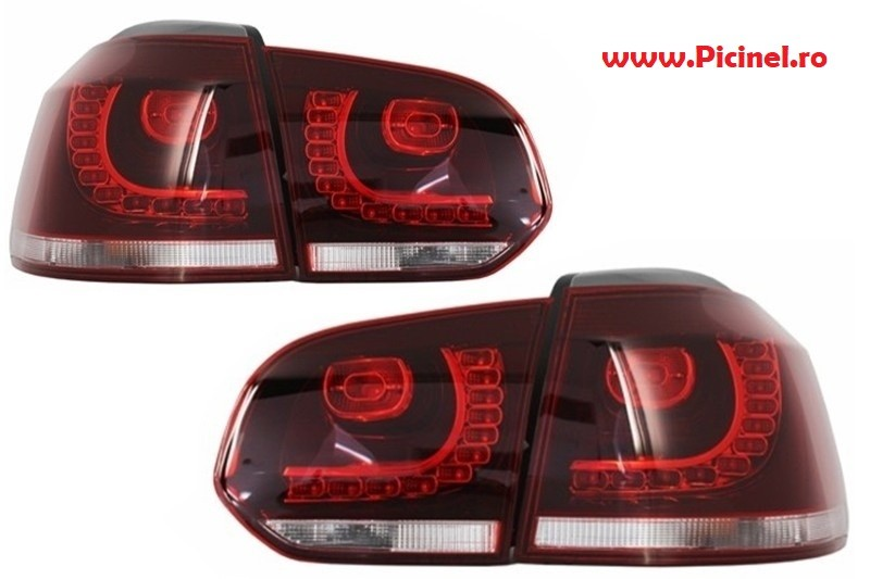 stopuri led vw golf 6 gti r20 look
